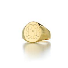 Lana oval monogram signet ring best sellers sarah chloe