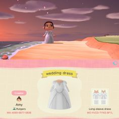 I made a wedding dress for people whose weddings had to be cancelled due to the pandemic :) Animal Crossing Villagers, Animal Crossing Qr Codes Clothes, Animal Crossing Game, Most Beautiful Pictures, Cool Pictures, Motif Acnl, Ac New Leaf, Making A Wedding Dress, Motifs Animal