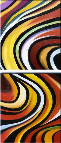 Colori africani   Misure: 100x60 - 2 pannelli