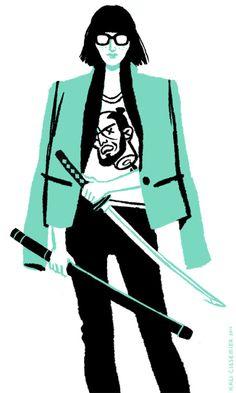 Shoulderpad samurai.