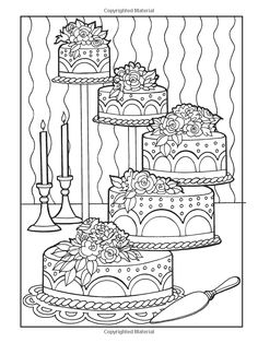 Creative Haven Designer Desserts Coloring Book (Creative Haven Coloring Books)…