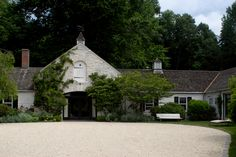 Shop Chairish, the design lover's curated marketplace for the best in vintage and contemporary furniture, decor and art. Stables, Contemporary Furniture, Entrance, Architecture Design, Cottage, Exterior, Cabin, Vacation, Stamford Connecticut