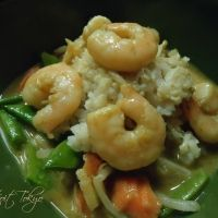 Thai Green Curry Shrimp & Vegetables Recipe. If you use light coconut milk calculates at 6+ WW points per serving and makes 4 servings.