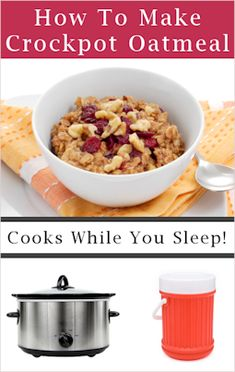 How To Make Crockpot Oatmeal & Hot Cereal In A Thermos