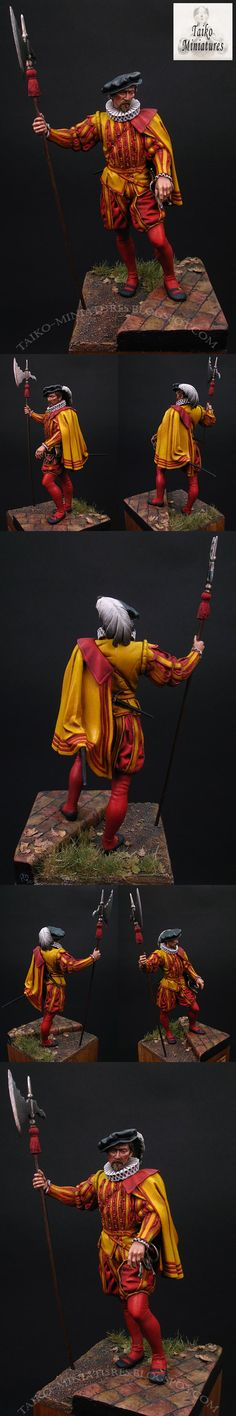 Hallberdier of the Spanish Guard, by Pegaso Models (painted by taiko from www.coolminiornot.com?)