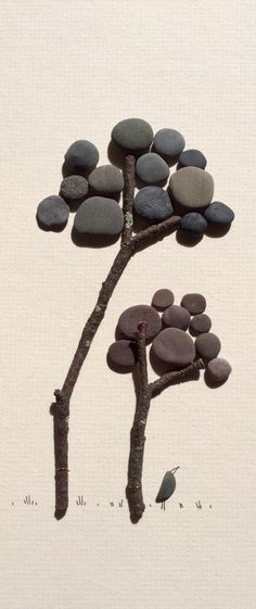 Pebble art trees by sharon nowlan by PebbleArt on Etsy