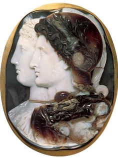 Gonzaga cameo, portrait of Ptolemy ll Philadelphus, 2nd Ptolemaic king of Egypt, and Arsinoe ll, his sister and wife (Ptolemaic kingdim) 3rd Century BC, Indian sardonyx