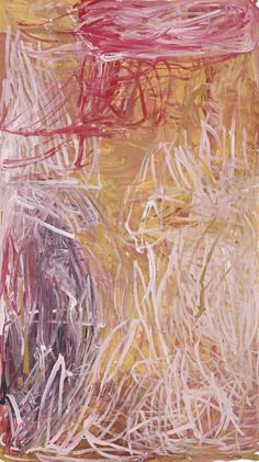 Emily Kame Kngwarreye, 'Merne' (Bush Tucker, My Country), Synthetic polymer paint on canvas, x 107 cm. Indigenous Australian Art, Indigenous Art, Australian Artists, Aboriginal Painting, Aboriginal Artists, Encaustic Painting, Galaxy Drawings, Art Watercolor, Art For Sale Online
