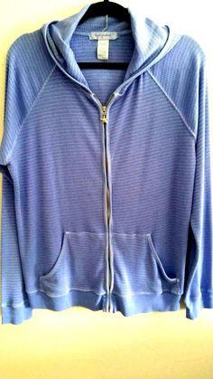 Fresh Produce Blue Hoodie Jacket L/XL Zip Front #FreshProduce #Hoodie