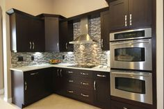 backsplash for dark two toned kitchen cabinet | ... and Remodeling Ideas and Inspiration, Kitchen and Bathroom Design