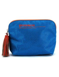 Bleu Electrique et Pailleté Mini pochette, Bensimon, 30 €.