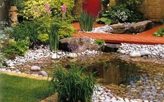 A bog garden is an interesting and unusual addition to any landscape. A bog garden is a type of marshy garden located in low-lying areas in a yard Backyard Water Feature, Ponds Backyard, Garden Ponds, Pond Landscaping, Landscaping With Rocks, Bog Garden, Natural Pond, Pond Plants, Back Gardens