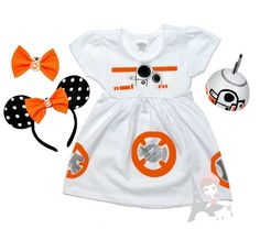 Simply too Adorable BB8 Costume!  BB8 Inspired White Dress Star Wars BB-8 by AlyssaParisDesigns For Star Wars Theme