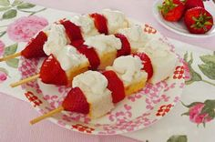 Renees Exchange- STRAWBERRY SHORTCAKE ON A STICK