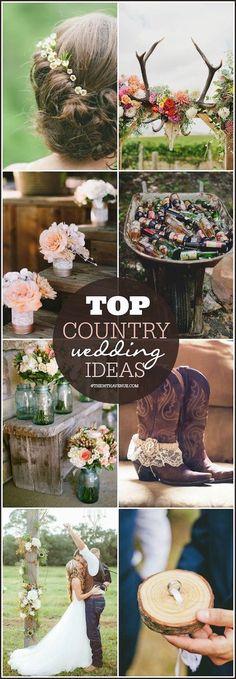 Country Western, Boho, Vintage o Shabby Chic, la Country Wedding sigue causando furor esta temporada. Descubre como decorar este estilo de bodas!