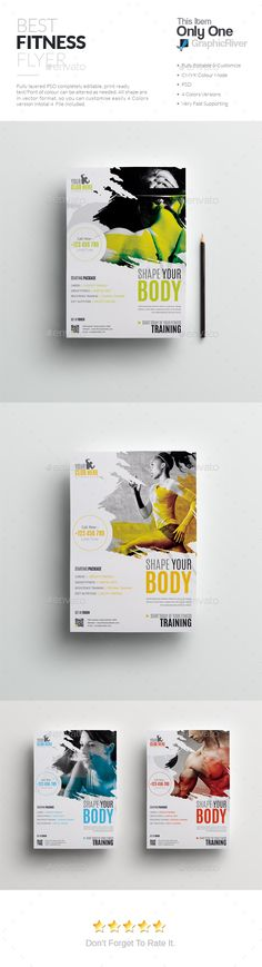 #Fitness #Flyer - Sports Events Download here: https://graphicriver.net/item/fitness-flyer/19420290?ref=alena994