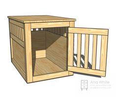 Wood Pet Crate Plans