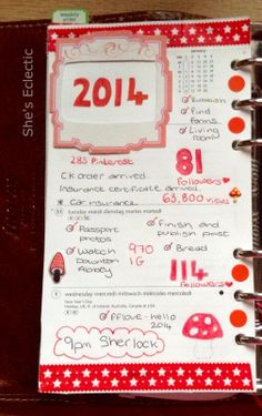 She's Eclectic - my week in my Filofax week #1, close up