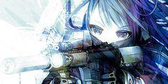 Anime Girl with Gun - Cartoon Girls Holding Guns