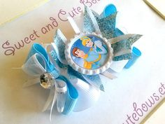 Cinderella Hair Bow by SweetandCuteBows on Etsy, $8.00
