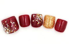 詳細ページ | ネイルデザイン | NAIL's AVENUE Toe Nail Art, Toe Nails, Pretty Pedicures, Pretty Toes, Nails Inspiration, Manicure, Fingers, Plum, Makeup