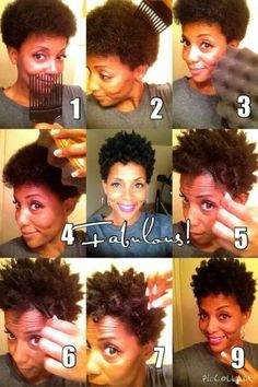 sponge coils - LIGHTLY spritz hair with water, buttercream moisturizer, pick and use sponge in a circular motion (same direction) on basically dry hair Tapered Natural Hair, Pelo Natural, Natu Hair, Short Natural Styles, Pelo Afro, Hair Affair, Natural Hair Inspiration, Natural Hair Journey, Hair Hacks