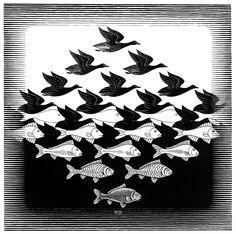 M.C. Escher Painting | Maths in Art 3: M C Escher | TomCandy