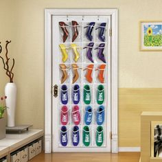 Amrka 24 Pockets Shoes Storage Transparent Over Door Hanging Shoe Rack Hanger Tidy Organizer White -- Be sure to check out this awesome product. (This is an affiliate link) Hanging Shoe Storage, Hanging Shoe Organizer, Hanging Shoes, Shoe Storage Rack, Door Storage, Hanging Racks, Bedroom Storage, Fabric Organizer, Pocket Organizer