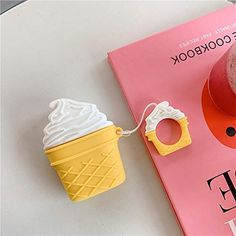 LEWOTE Airpods Silicone Case Funny Cute Cover Compatible for Apple Airpods Food Series][Best Gift for Girls Boys or Couples] (Ice Cream) Milk Ice Cream, Ice Cream At Home, Best Gifts For Girls, Air Pods, Gifts For Your Boyfriend, Airpod Case, Pink Brown, Retro, Colorful Decor