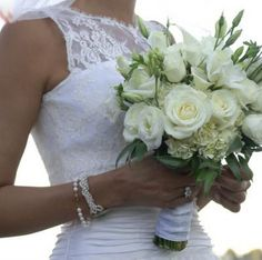 cream roses, lisianthus and hydrangea | Wedding Bouquets ...