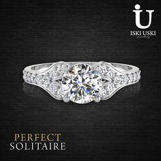 Shop Stunning Solitaire Diamond Rings - engagement, wedding, anniversary rings at IskiUski