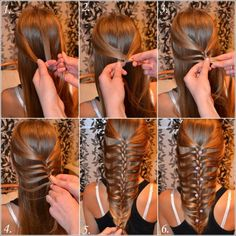 Beauty Tip on Beauty Hair by liivika viitak. Check out more Hair on Bellashoot. Party Hairstyles, Braided Hairstyles, Cool Hairstyles, Beautiful Hairstyles, Hairstyle Ideas, Hairstyle Braid, Creative Hairstyles, Medium Hairstyles, Hairdos