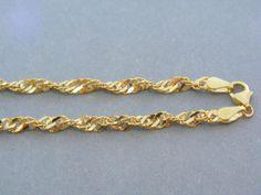 Zlatá retiazka žlté zlato točený vzor