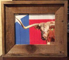 Texas Ranch, Sam Houston, Texas Longhorns, The Ranch, Rustic Decor, Cow, Frame, Prints, Etsy