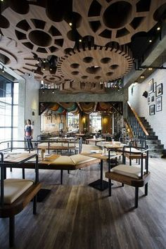 This Restaurant Is Designed To Look Like A Teddy Bear Factory #restaurantdesign