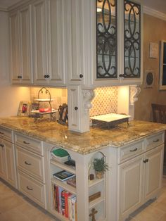 Wrought iron inserts in kitchen cabinet doors | My Home Style ...