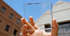Researchers at Michigan State University have developed a new type of solar panel that is almost completely transparent.