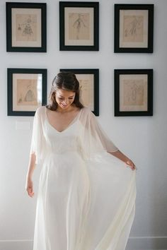 wedding dress flowy The Modern Ethereal Design of This Ebell Long Beach Wedding Will Blow You Away Angelic flowy Brautkleid von Sarah Seven Bridal Gowns, Wedding Gowns, Flowy Wedding Dresses, Lace Wedding, Ethereal Wedding Dress, Classy Wedding Dress, Organza Bridal, Wedding Hijab, Wedding Dress Sleeves