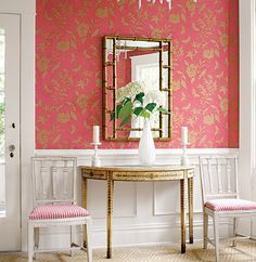 Thibaut Gatehouse Collection 'April' in Coral