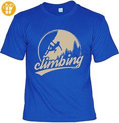 Fun T-Shirt - Wandern Hobby Motiv - Climbing - Unisex, Farbe: Royalblau - Shirts mit spruch (*Partner-Link)