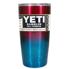 YETI Red Blue Ombre 20 oz Rambler Tumbler