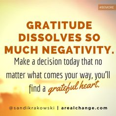 Gratitude changes everything!