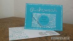 Glückwunschkarte - Geldgeschenk - Grüße voller Sonnenschein - Playful Backgrounds - Love you lots - Perfekt verpackt
