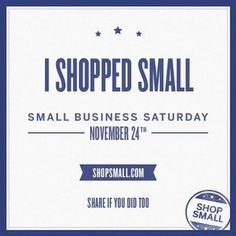 This article from the Examiner discusses President Obama's support of Small Business Saturday