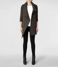 Womens Vana Coat (Khaki) | ALLSAINTS.com