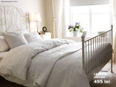 Iron Bed with Storage . Iron Bed with Storage . Steel Frame Bed with Storage Live Edge Headboard Bedframes White Iron Beds, White Metal Bed, White Ikea Bed, White Tv, Bedroom Sets, Home Bedroom, Bedroom Decor, Bedding Sets, Serene Bedroom