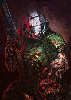 Doom how to draw lips - Drawing Tips Doom 4, Doom Game, Doom 1993, Doom Demons, Doom 2016, Arte Hip Hop, Wolfenstein, Fandom, Game Concept Art