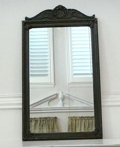 Antique Nurre Carved Wood Framed Beveled Wall Mirror 14 Quot X
