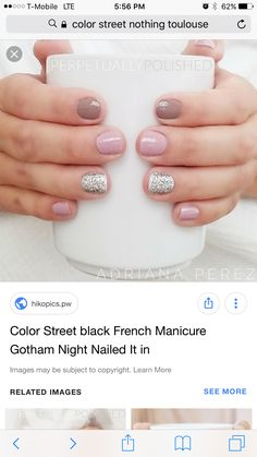 Tip and dip Love Nails, How To Do Nails, Fun Nails, Pretty Nails, Shellac Nails, Nail Polish, Finger Art, Nail Time, Hair Skin Nails