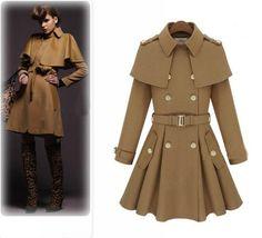 Handmade New Military Fashion Women Luxury Nylon Trench Coat Slim Long Jacket | eBay